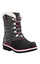 Ariat Women's Grey, Black, and Pink Whirlwind Waterproof Round Toe Shoe