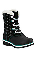 Ariat Women's Grey, Black, and Turquoise Whirlwind Waterproof Round Toe Shoe