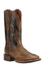 Ariat Men's Nighthawk Vintage Brown Western Wide Square Toe Boots