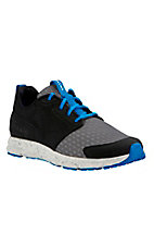 Ariat Men's Fuse Charcoal and Black with Blue Accents Athletic Shoe
