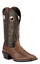 Ariat Men's Tan with Chocolate Upper Western Wide Square Toe Boots