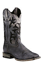 Ariat Men's Cowboss Black Ombre with Classic Inlays Western Square Toe Boots