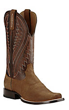 Ariat Men's Hoolihan Tan Oiled Gaucho with Bittersweet Chocolate Upper Western Cutter Toe Boots