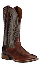 Ariat Men's Cognac with Chocolate Upper Western Square Toe Boots