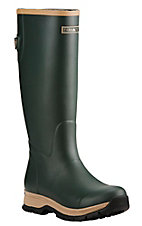 Ariat Women's Dark Green with Tan Accents Tall Round Toe Rainboot