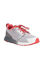Ariat Women's Fuse Grey with Coral Details Mesh Athletic Shoes