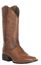 Ariat Women's Round Up Remuda Brown Western Wide Square Toe Boots