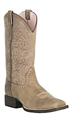 Ariat Women's Round Up Remuda Tan Western Wide Square Toe Boots