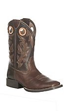 Ariat Youth Barstow Chocolate with Brown Upper Western Square Toe Boots