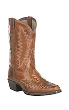 Ariat Youth Brooklyn Tan Western Snip Toe Boots