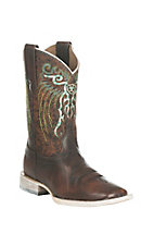 Ariat Youth's Brown with Rust Upper Western Square Toe Boots