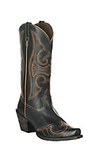 Ariat Women's Round Up Black Western Snip Toe Boots