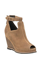 Ariat Women's Backstage Tan Wedge Peep Toe Sandals