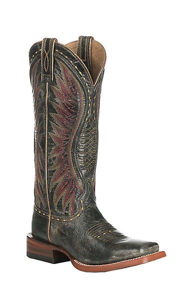 Ariat Women's Vaquera Castlerock Black Western Square Toe Boots ...