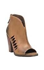 Ariat Women's Lindsley Tan Peep Toe Bootie