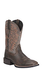 Ariat Men's Dark Brown with Ash Upper Western Square Toe Boots