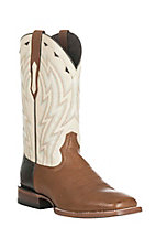 Ariat Men's Cowtown Sand with White Upper Western Square Toe Boots
