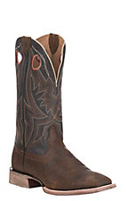 Ariat Men's Circuit Hazer Rough Chocolate with Rough Brown Upper Western Wide Square Toe Boots