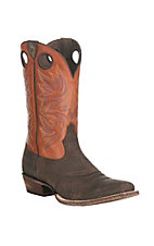 Ariat Men's Circuit Striker Chocolate with Orange Upper Western Square Toe Boots