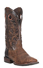 Ariat Men's Barstow Brown with Dark Brown with Tan Inlay Upper Western Square Toe Boots