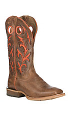 Ariat Men's Barstow Leather with Bite the Dust Brown Western Wide Square Toe Boots