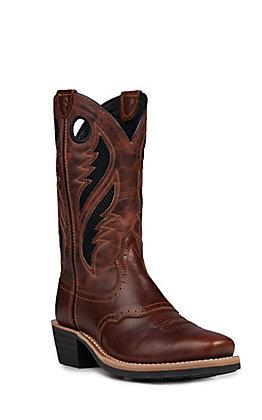 f731be6f3de Ariat Men's Heritage Roughstock Venttek Gingersnap Western Square Toe Boots