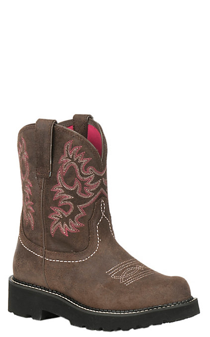 2a6b7a739f0 Ariat Women's Fatbaby Dark Barley Round Toe Boots