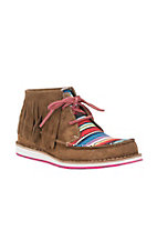 Ariat Ladies Dark Brown with Serape and Fringe Moc Cruiser Shoe