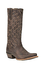 Ariat Women's Heritage Southwestern Tack Room Chocolate Snip Toe Western Boots
