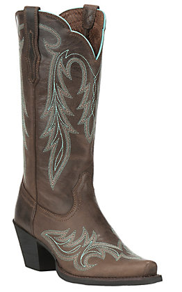 Ariat Women's Round Up Renegade Barnwood Snip Toe Western Boots