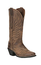 Ariat Women's Round Up Phoenix Rodeo Tan Square Toe Western Boots