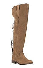 Ariat Women's Farrah Fringe Tan Suede Round Toe Fashion Boots