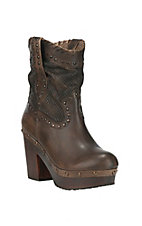 Ariat Women's District Memphis Distressed Brown Round Toe Fashion Boots