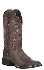 Ariat Women's Quickdraw Chocolate Square Toe Western Boots