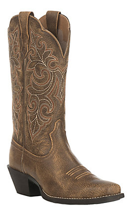 Ariat Women's Round Up Vintage Bomber Square Toe Western Boots