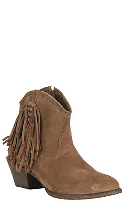 Ariat Women's Duchess Tan Suede with Fringe Booties