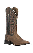 Ariat Men's Ranchero Rebound Khaki with Dark Desert Upper Western Square Toe Boots