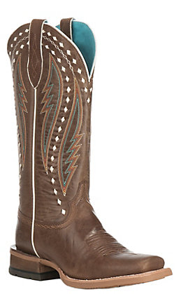 Ariat Women's Callahan Ranch Tan Square Toe Western Boots