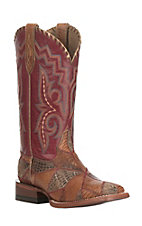 Ariat Ladies Reese Shades of Exotics with Baton Rouge Upper Wide Square Toe Western Boot