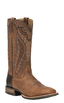 Ariat Top Hand Men's Tan Wide Square Toe Western Boots