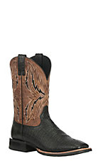 Ariat Men's Arena Rebound Black Elephant Print with Tan Upper Western Wide Square Toe Boots