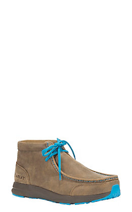 Ariat Men's Brown with Turquoise Lacing Spitfire Moc Casual Shoe