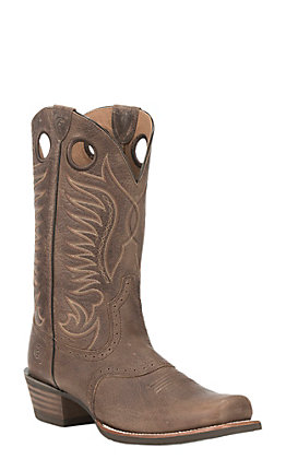 Ariat Men's Heritage Hotshot Brown Western Cutter Toe Boots