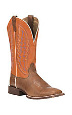 Ariat Men's Circuit Stride Tan with Firecracker Upper Western Square Toe Boots