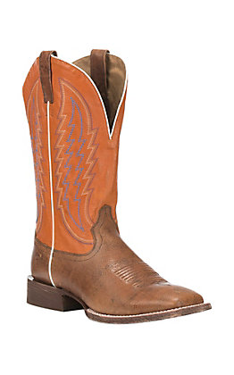 XSM Ariat Men's Circuit Stride Tan with Firecracker Upper Western Square Toe Boots