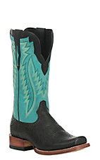 Ariat Men's Relentless Prime Black with Aqua Upper Western Cutter Toe Boots