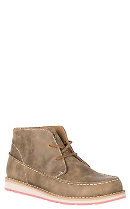 Ariat Women's Brown Bomber Cruiser Lace Up Moccasin Casual Shoe