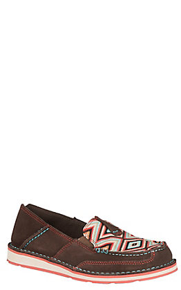 Ariat Women's Coffee & Pastel Aztec Print Casual Shoes