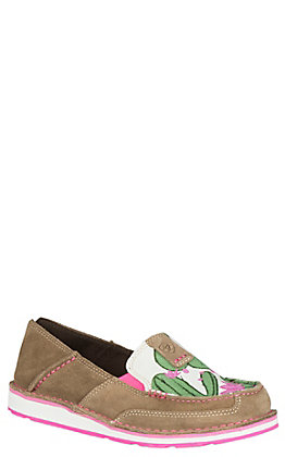 Ariat Women's Cruiser Tan and Cactus Print Casual Shoes