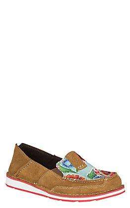 6a832e9bc74c4a Ariat Women s Brown Floral Print Cruiser Casual Shoe
